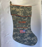 U.S. Army Christmas Stocking Camouflage Pattern by Camosock USA Made! NEW!