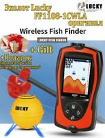 lucky FF1108 1CWLA Russian Version Colored wireless fishfinder Operational