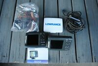 (2) Lowrance Elite 5M HD & Elite 5 HDI Fish Finders With Transducer Look!!!