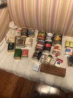 Lot Of 30 Vintage Kitchen Medical Tins Jars Cheese Box