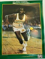 World Champions Gus Will #1 Seattle Supersonics Pepsi Poster Size 22quot;x17quot;