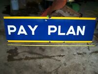 Old GOODYEAR EASY PAY PLAN Porcelain Sign Tires Gas Oil Service Station NICE!