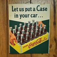 Rare Vintage Drink Coca Cola Sign Advertising Let Us Put A Case In Your Car