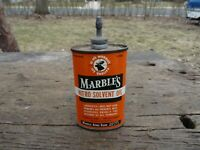 Vintage MARBLE'S NITRO SOLVENT OIL - Lead Top - Tin / Can 3 oz.