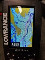 LOWRANCE ELITE-4 HDI Sonar GPS Chartplotter Fish Finder and down imaging