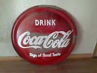 Vintage 1958 Coca Cola Button Round Sign 36