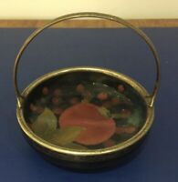Moorcroft Pomegranate Dish with Silver Plated Mounts and Handle