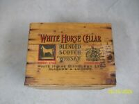 White Horse Cellar Scotch Whisky Wooden Crate Wood Box 1953 Distillery old