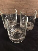 Crown Royal Whiskey Glasses set of 3 glasses straight sided