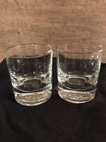 Crown Royal whiskey glasses set of 2 straight sided glasses