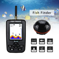 Portable Smart 35M Depth Fish Finder w/100M Wireless Sonar Sensor Echo Sounder
