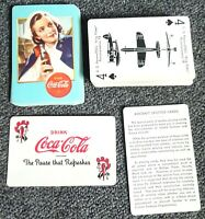 1943 WARTIME ERA - COCA-COLA® PLAYING CARDS- MILITARY NURSE AIRPLANE SPOTTER