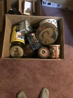 collectible tin cans