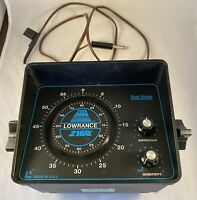 Lowrance System 2000 2160A Vintage Dual-Scale Fish Finder Depth Sounder Untested