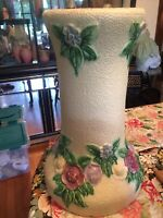 """18"""" Tall ROSEVILLE ART POTTERY ANTIQUE 1917 ROZANE Pedestal Stand For Jardiniere"""