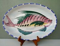 VIETRI - AL MARE - ITALIAN ART POTTERY OVAL FISH SERVING PLATTER - 15 3/4