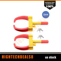 2x Wheel Lock Clamp Boot Tire Claw Trailer 19×7.5inch For Car Truck Security