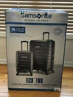 NEW Samsonite Tech 2.0 2-Piece Hardside Luggage Set Gray (27