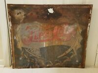 Very Rare Vintage Double Dot Pepsi Sign from 1940's. 31
