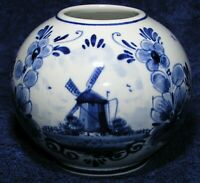 Jar or Vase Royal Delft Holland Collectible Hand Painted Numbered Blue White