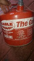 Vintage Red Metal Gas Can Eagle 5 Gallon The Gasser Wellsburg WV
