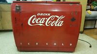 Vintage Coca Cola cooler by Westinghouse in good running condition