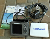 LOWRANCE HDS 5 LAKE INSIGHT GEN 2 FISHFINDER W/TRANSDUCER/POWER/MOUNT/MANUALS