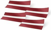 Latvia 4 Pack of 4 Inch Wide Flag Stickers Latvian 4