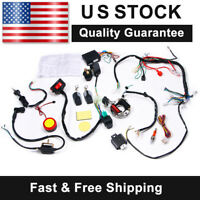 Full Electrics Wiring Harness CDI For ATV 50/70/110/125cc + Remote Start Switch