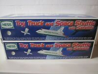 1999 Hess Toy Truck & Space Shuttle w/ Satellite Lot of 2 New in Original Boxes