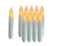 12 led Taper Candles for Window  Timer Flameless Candles with Flickering Light