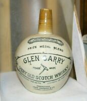 antique pottery jug-Glen Garry old scotch whisky  John Hoplins London