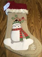 Pottery Barn Kids Holiday Collection ~ Woodland Christmas Stocking Penguin NWT