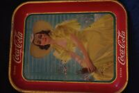 1938 Coca Cola Girl In Yellow Dress Original Tray Good