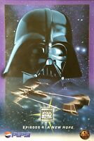 1996 Star Wars Trilogy Episode 4 A New Hope Pepsi Poster Darth Vader