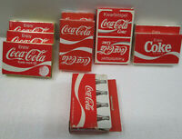 COKE COCA COLA PLAYING CARDS YOUR CHOICE 7 SEALED NEVER OPENED 2 OPENED