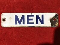 Vintage Porcelain Men's Restroom Sign