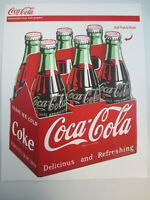 Coca Cola 6 pack Bottles 1950s Removable Vinyl Decal Re positionable