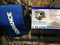 Lowrance Elite 5 HDI Ice Fishing Kit