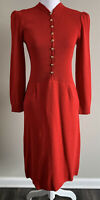 Women#x27;s St. John for Neiman Marcus Dress Red Gold Knit Flaw Size Small S