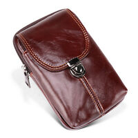 Universal Large Genuine Leather Belt Clip Holster Pouch Case For iPhone Samsung $17.09