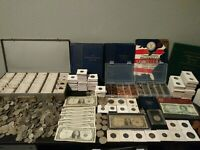 ESTATE COIN COLLECTION SALE SILVER OLD US COINS FOREIGN COINS