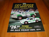 HESS 2011 TOY TRUCK AND RACE CAR VERTICAL DOUBLE SIDED POSTER