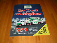 HESS 2002 HESS TOY TRUCK & AIRPLANE TWO SIDED VERTICAL VINYL POSTER