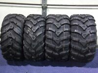 (4) New 24X8-12 24x10-11 CST MAXXIS ANCLA ATV TIRES SET HONDA RANCHER 4X4 TRX420