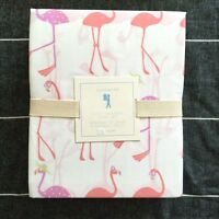 Pottery Barn Kids Coco Flamingo Sheet Set twin orchid pink cotton polyester
