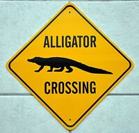 ALLIGATOR CROSSING SIGN* Custom made for you!  *FREE PRIORITY SHIPPING