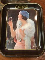 Antique 1973 Drink Coca-Cola Flapper Girl - Serving Tray -Repro from 1925