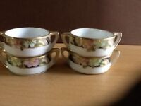 Antique hand painted Nippon nut bowls