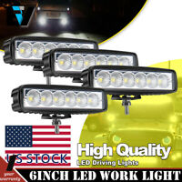 4x 6inch 72W Led Work Lights Pods Cube Flood Beam Offroad ATV UTE TRUCK 4WD